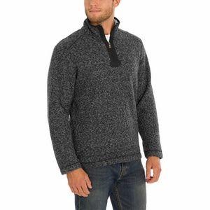 ORVIS Men Brighton Sherpa Zip Pullover Shirt Black